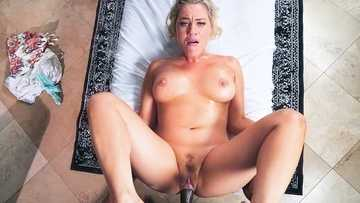 Massage specialist Jessica Ryan treats Prince Yashua with respect and her sweet pussy