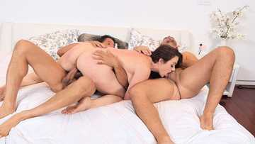 Business woman Chanel Preston gets double fuck to satisfy her first customers