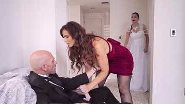 Adventurous dude Johnny Sins fucks his soon to be mother-in-law Syren De Mer