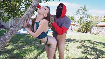 Outdoor fuck with a thief and a slut Alex Blake