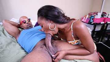 Chanell Heart: Petite Ebony Amateur Monster Cock Experience!