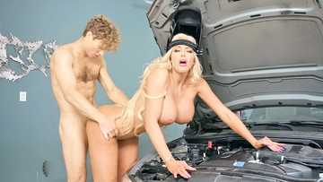 Nicolette Shea cheat of husband with teen mechanic who repairs her broken car