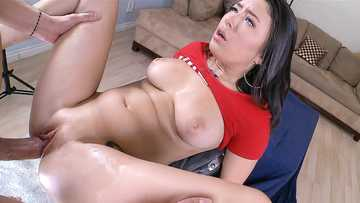 Daisy Summers: Sexy Brunette Pounded Hard, Then Swallows Cum
