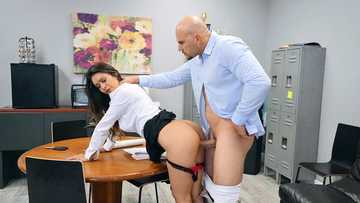 Excited Katana Kombat and colleague can't resist having sex in teachers' room