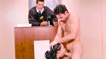 Kristina Rose got her MILF hairy bush a double penetration in the court